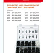 TM TM 350 Piece Assortment Screw Rivits for BMW / BENZ / MAZDA / VW