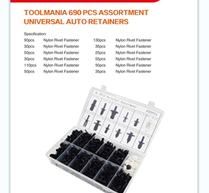TM 690 Delige Assortiment bekleding clips voor VW , BMW , VOLVO