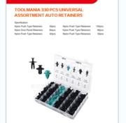 TM TM 330 Piece Assortment Screw Rivits, Clips MIX