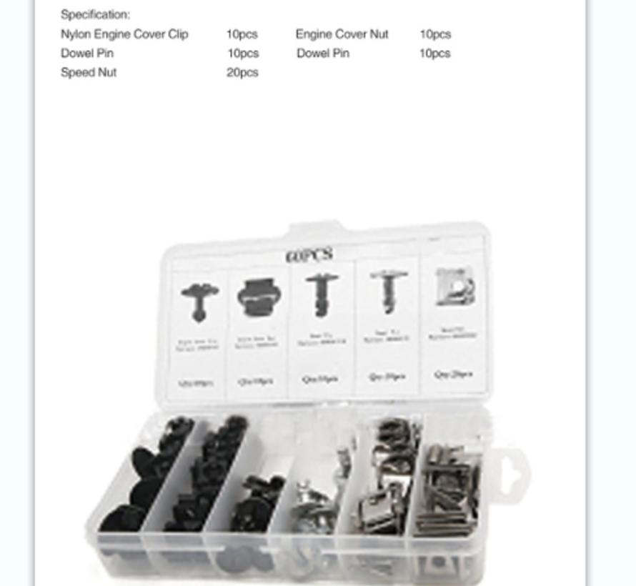 TM 60-teiliges Sortiment an Karosserieclips, Schrauben für VW , AUDIA