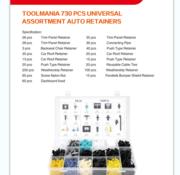 TM TM 730 Piece Assortment Upholstery Clips MIX
