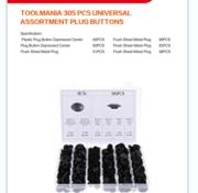 TM TM 305 Piece Assortment Screw Rivits / Clips MIX Cover Cap