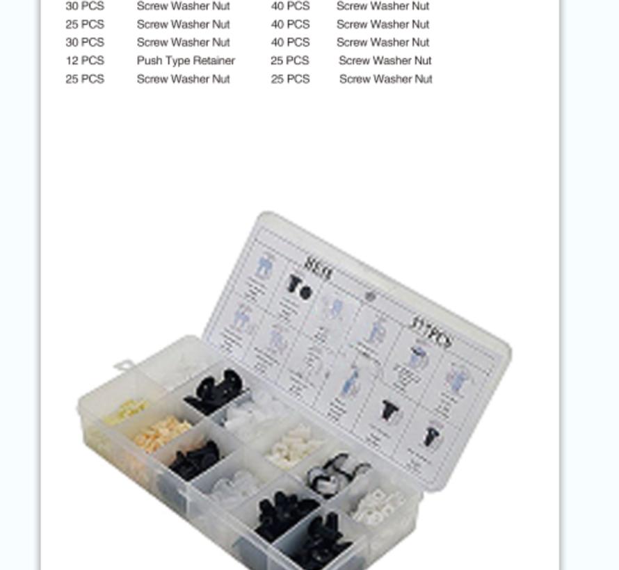 TM 377 Delige Assortiment bekleding Clips  voor MITSUBISHI , FORD , NISSAN , VW