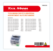 TM TM 350 Piece Assortment Upholstery Clips MIX