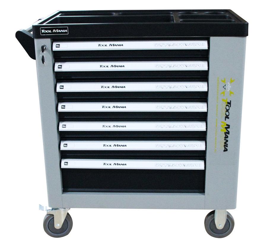 TM 262 Stück gefüllter Werkzeugwagen mit 7 Schubladen und Tür mit Schaumstoffeinlagen