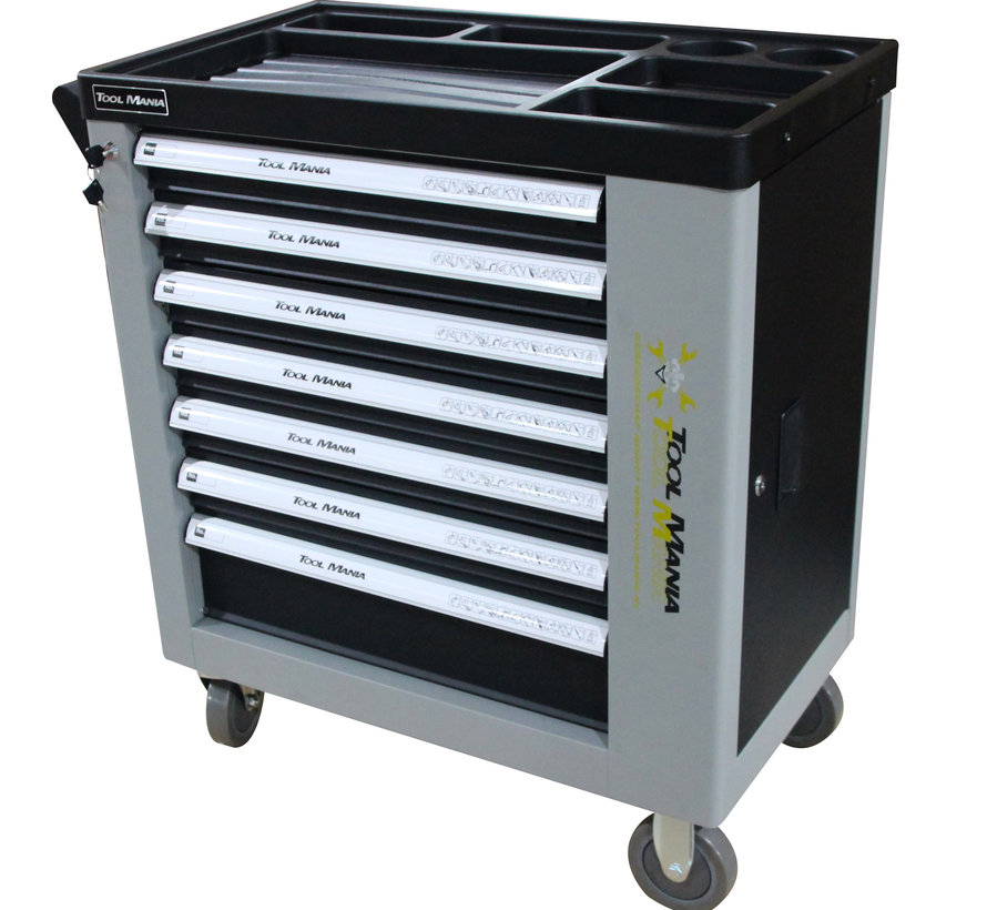 TM 262 Piece Filled Tool Trolley with 7 drawers and door with FOAM Inlays