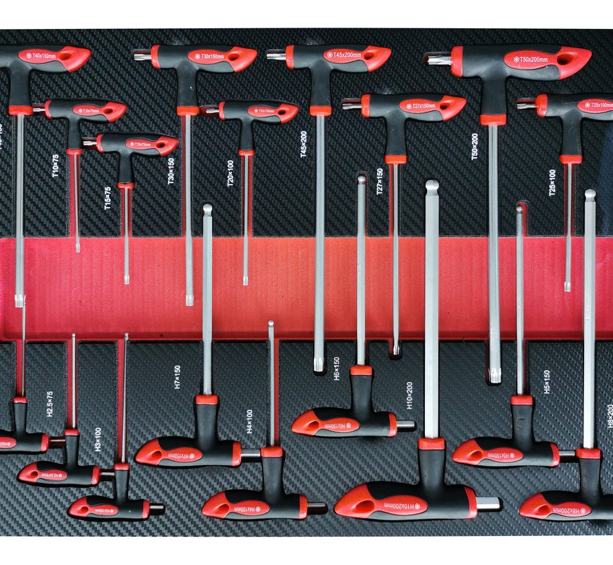 TM 274 Piece XL Premium Filled tool trolley With Door and Carbon Inlays