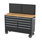 TM TM 146 cm Profi Tool trolley / Workbench with wooden top and rear wall