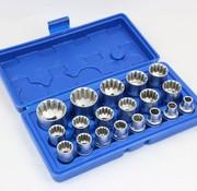 """TM TM 19 Delige 1/2"""" Multilock Doppenset Van 8 tot 32 mm"""