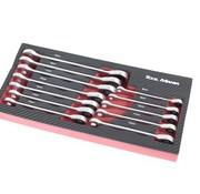 TM TM 12 Piece Plug Ring, Ratchet, Spanner Set in foam carbon look inlay