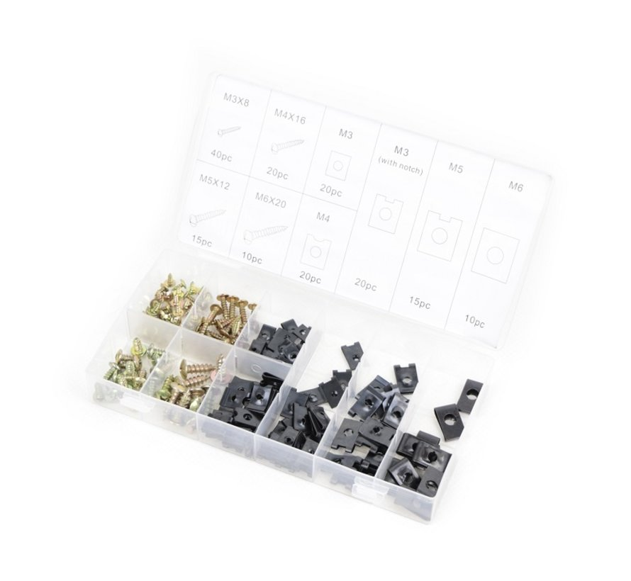 TM 170 Piece Assortment Parkers and Speednuts