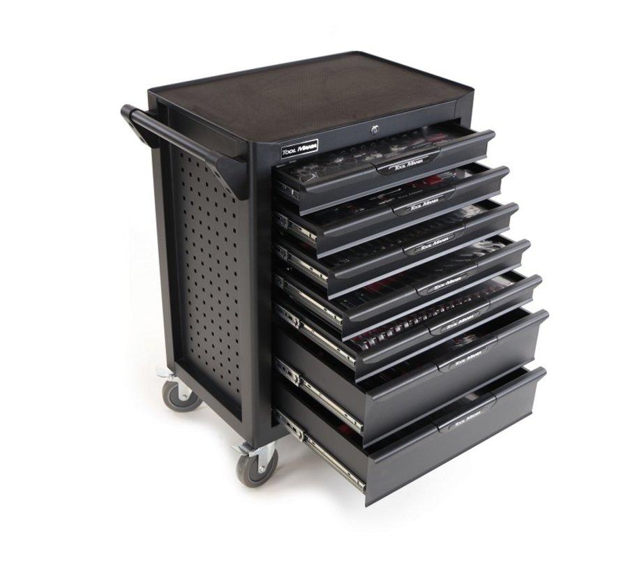 TM Profi 283 Piece Filled Tool Trolley BLACK