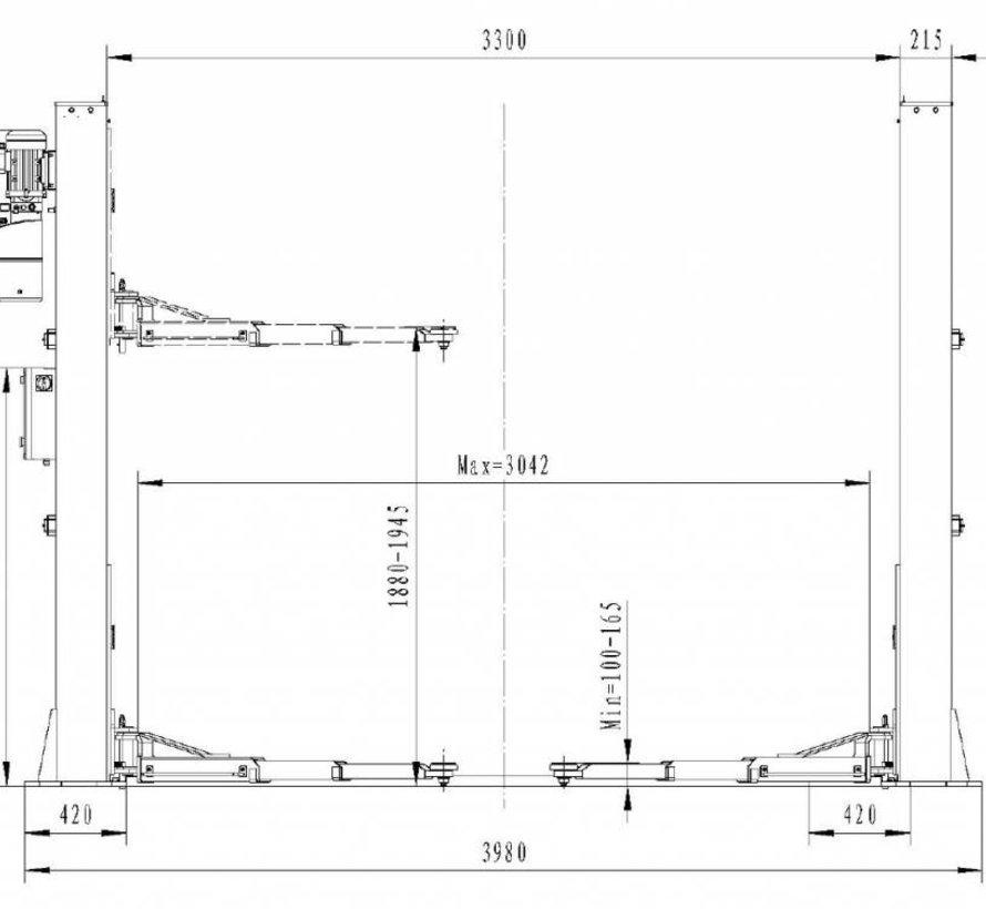 TM 2 Column Hydraulic Lift Bridge 5,5 Tonnen HEAVY LINE
