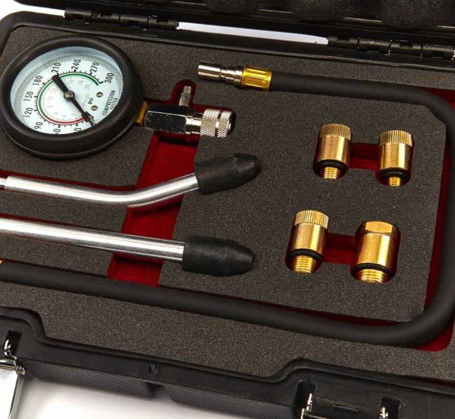 TM 8 Delige Professionele Compressietester voor Benzine motoren