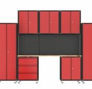 TM Komplette Garage mit Werkbank und Werkzeugschränken 11 Teile