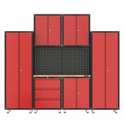 TM Complete garage with workbench and tool cabinets 9 pieces