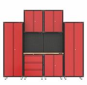 TM Komplette Garage mit Werkbank und Werkzeugschränken 9 Stück