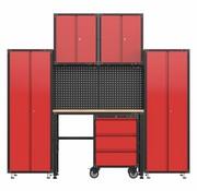 TM Komplette Garage Vorrichtung mit Werkbank und Werkzeugschränke, 6 Stück