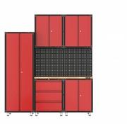 TM Komplette Garage Gerät mit Werkbank Werkzeugschränken und 8 Teilen