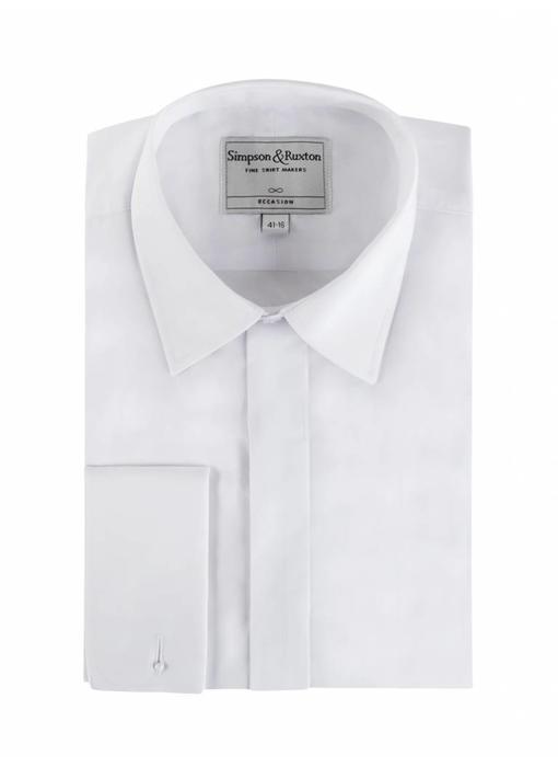 Simpson & Ruxton Smokingshirt kent collar
