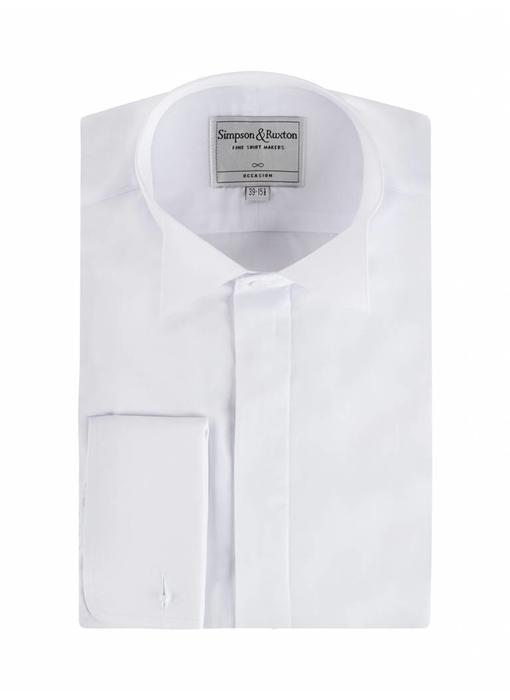 Simpson & Ruxton Smokingshirt wing collar