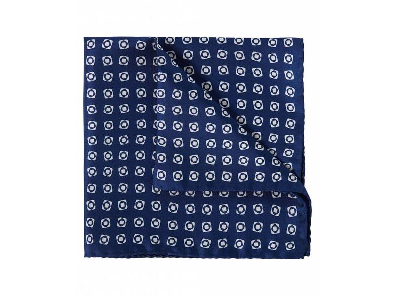 Profuomo Donkerblauw zijden pochet
