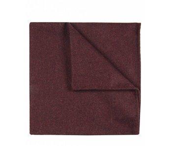 Profuomo Bordeauxrode gemêleerde wollen pochet