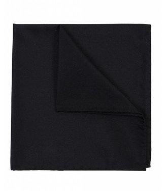 Profuomo Zwart oxford zijden pochet