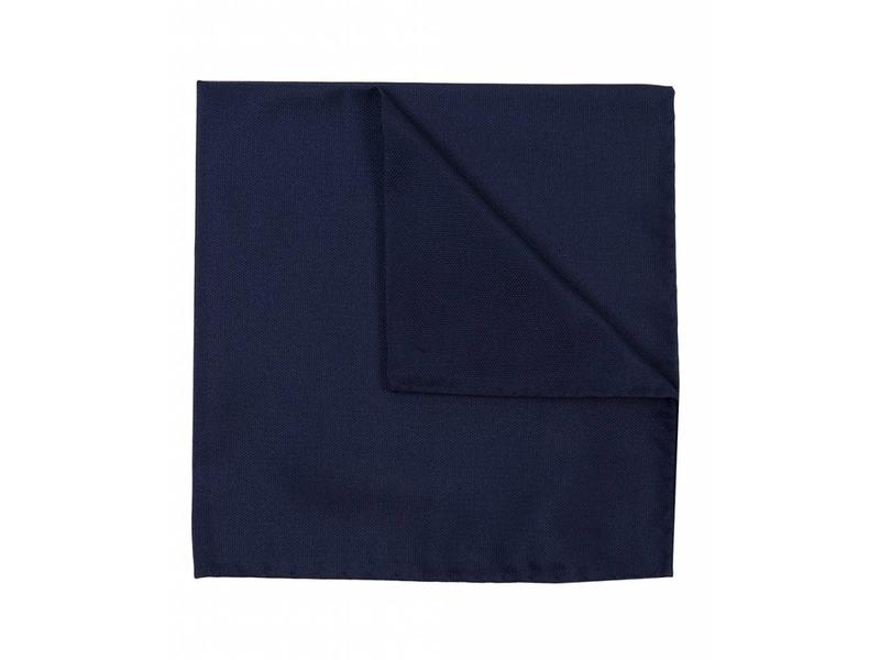 Profuomo Navy oxford zijden pochet