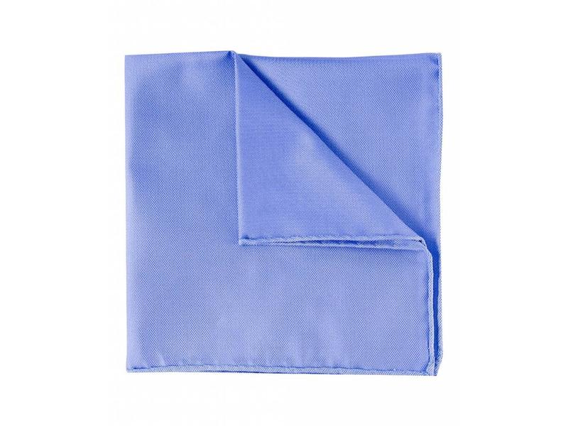 Profuomo Blauw oxford zijden pochet