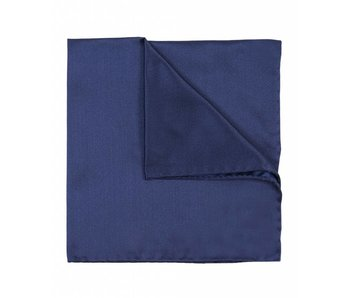 Profuomo Marineblauw satijnen pochet