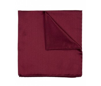 Profuomo Bordeaux rode  koninklijk satijnen pochet