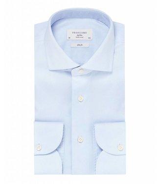 Profuomo Profuomo Sky blue travel shirt blauw