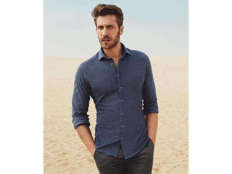 Profuomo Jeans mélange knitted shirt