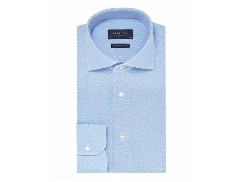 Profuomo Blue knitted shirt