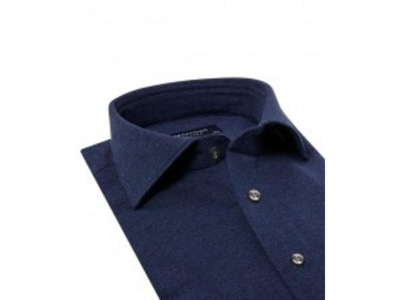 Profuomo Navy mélange knitted shirt