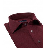 Profuomo Bordeaux melange knitted overhemd