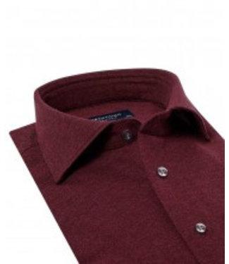 Profuomo Bordeaux melange knitted overhemd
