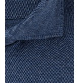 Profuomo Blue slim fit cutaway knitted shirt