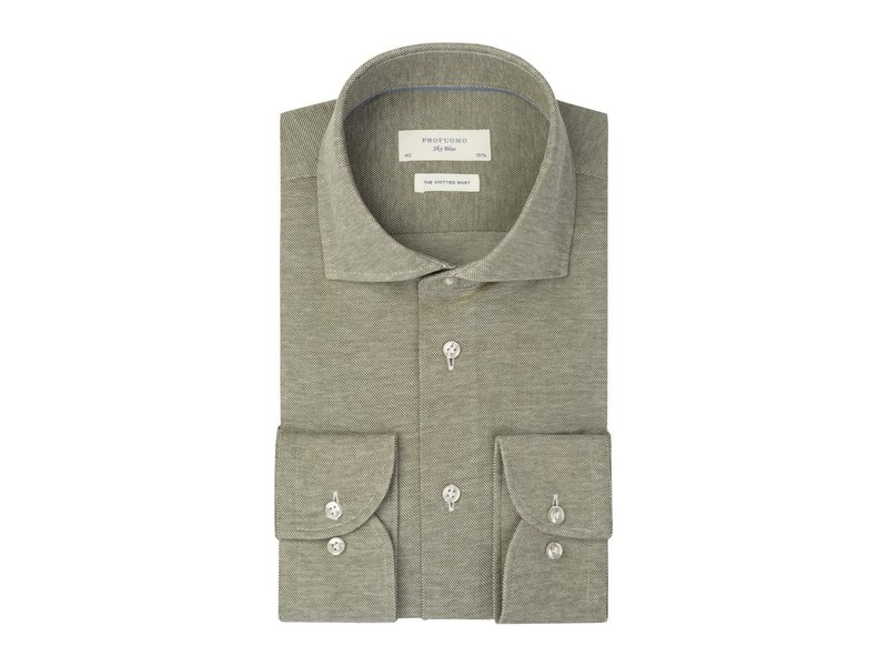 Profuomo Green Sky Blue knitted shirt