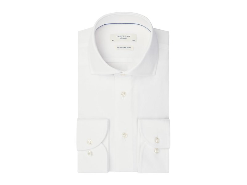 Profuomo White Sky Blue knitted shirt