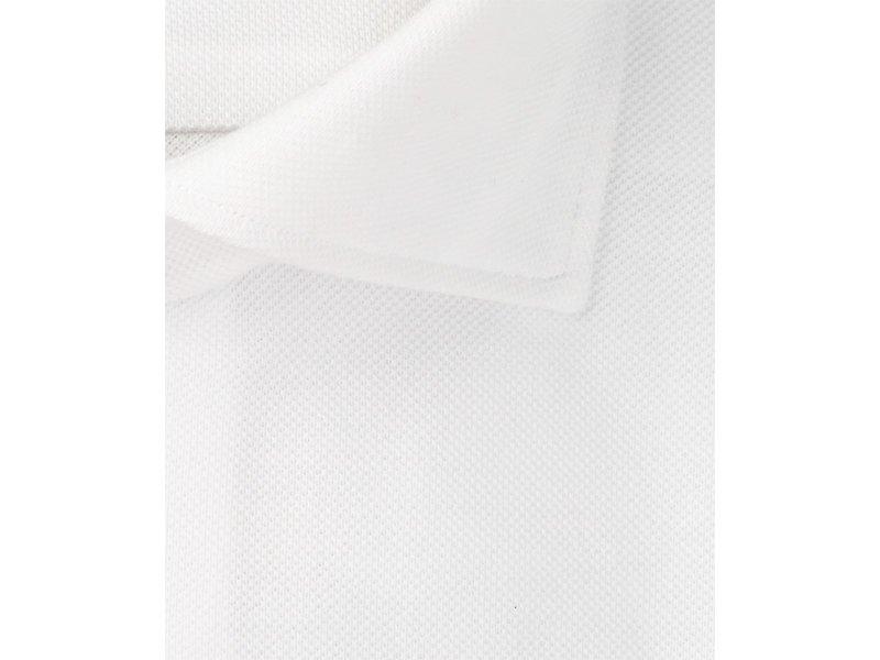 Profuomo Wit slimfit cutaway knitted shirt