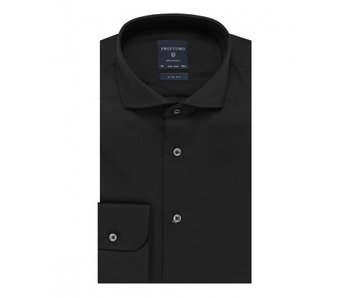 Profuomo Black fine twill cotton shirt