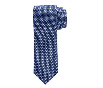 Profuomo Blauw patroon zijden das