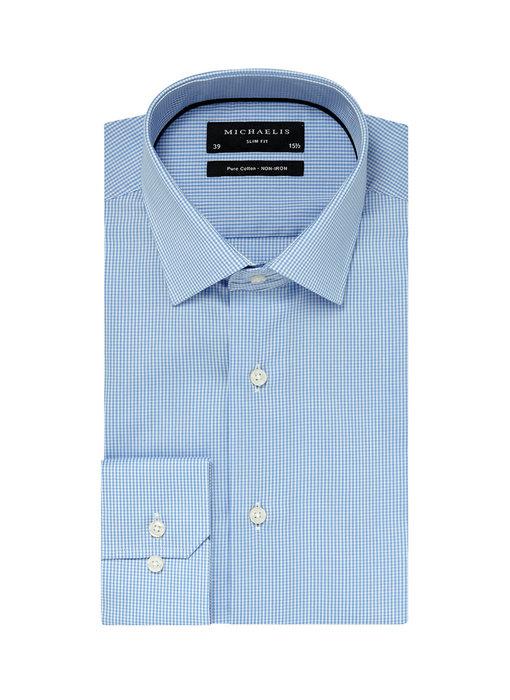 Michaelis Blauw shirt ruit