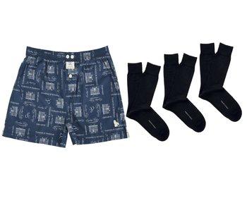 Boxer en 3 paar sokken