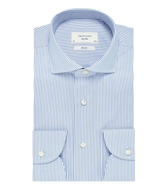 Profuomo Sky blue blue stripe cutaway collar