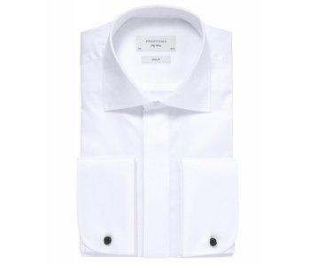 Profuomo Sky blue luxe smoking shirt kent collar