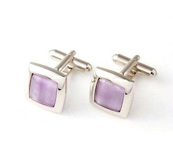 Profuomo Manchetknoop purple amethyst stone