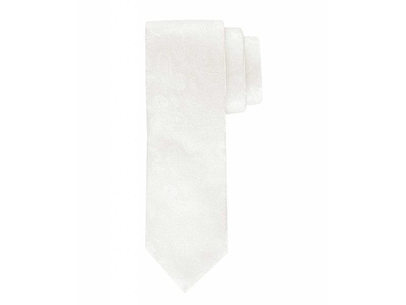 Profuomo Wedding off-white satin-silk tie